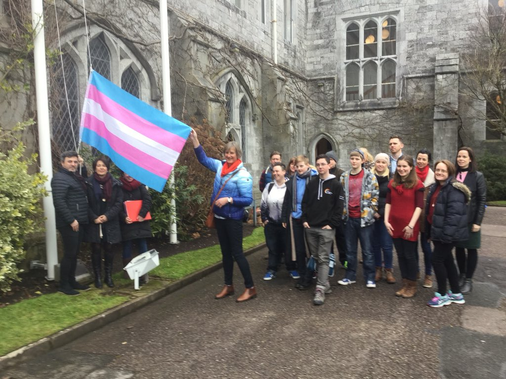 Transgender Pride flag being raised for first time on an Irish university campus
