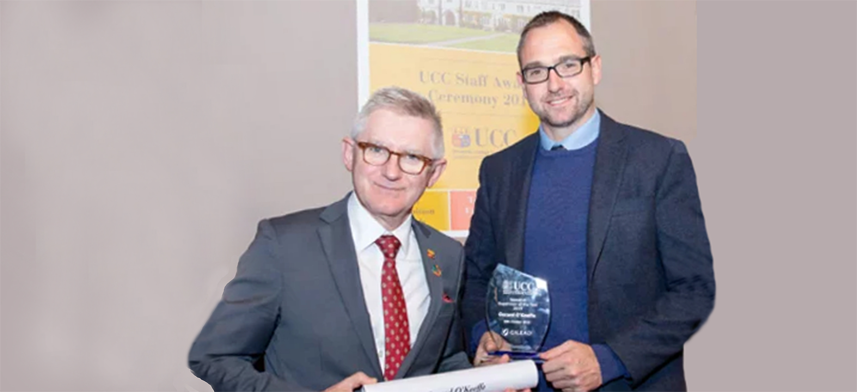 Congratulations to Ger O'Keeffe on the award of UCC Research Supervisor of the Year 2019