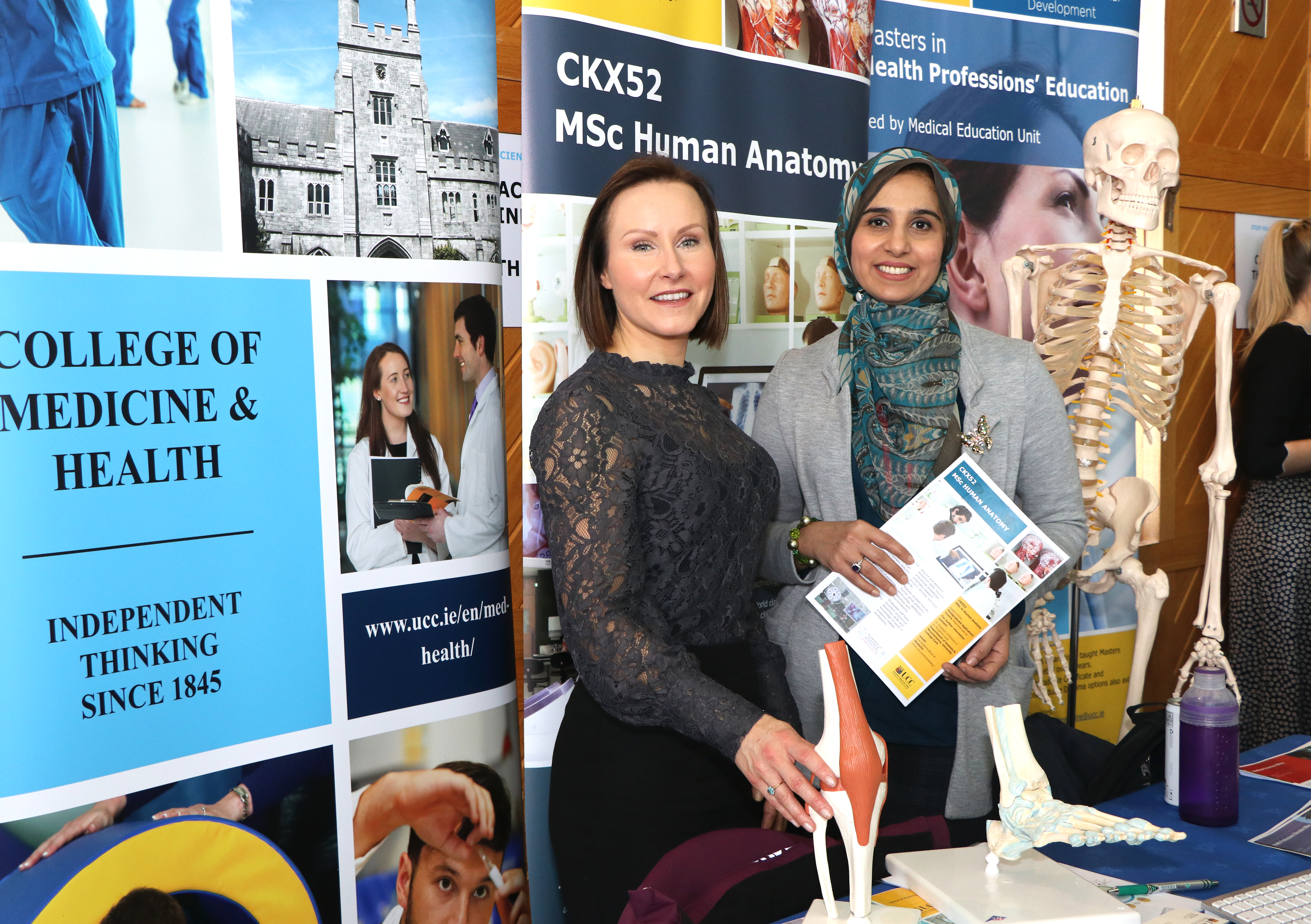 MSc Human Anatomy at the UCC Postgraduate Open Day in the Devere Hall, Áras na Mac Léinn