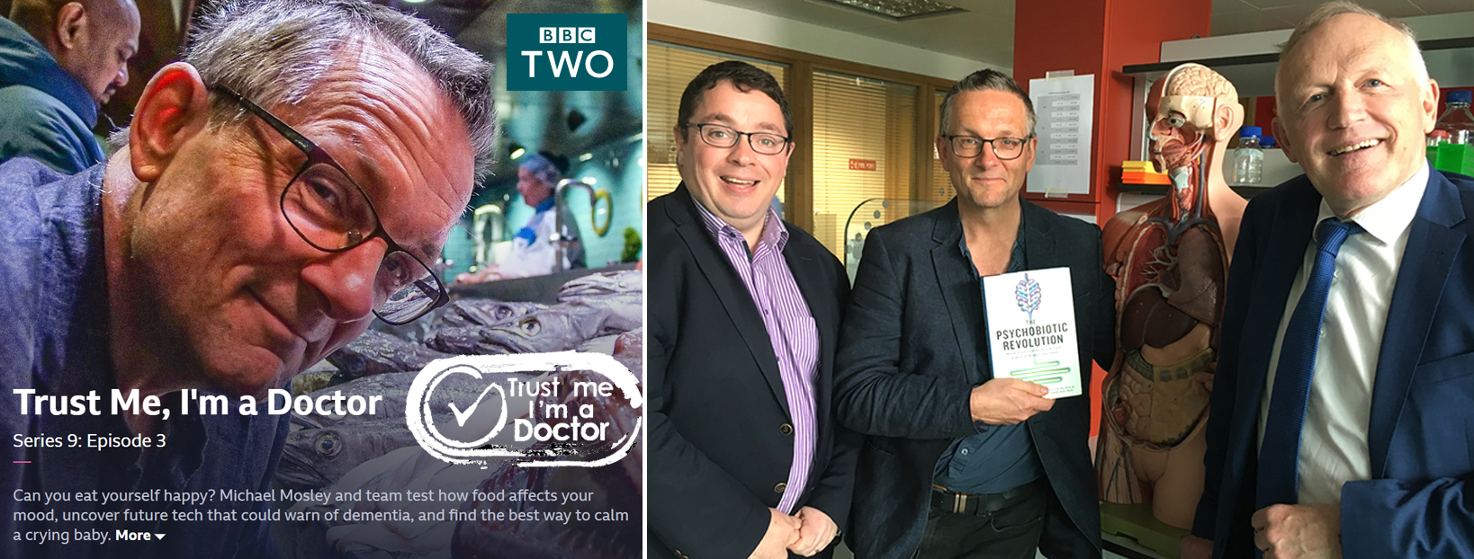 John Cryan, Ted Dinan & team on 'Trust me I'm a Doctor'