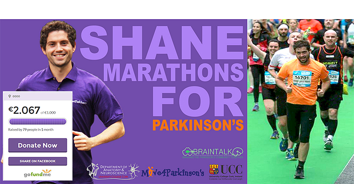 Shane completes Marathon and raises over €2000 for Move4Parkinson's