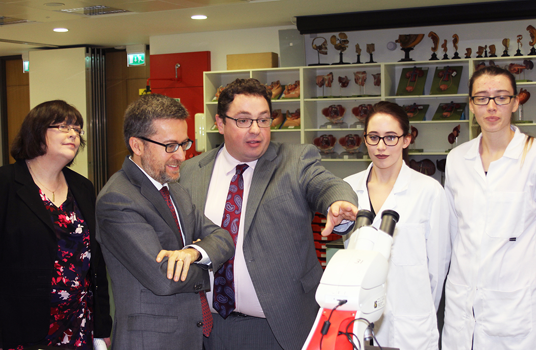 EU Commissioner Carlos Moedas visits Dept of Anatomy & Neuroscience -video added