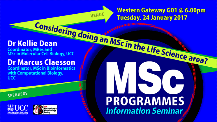 Information seminar on MSc programmes in the life science area