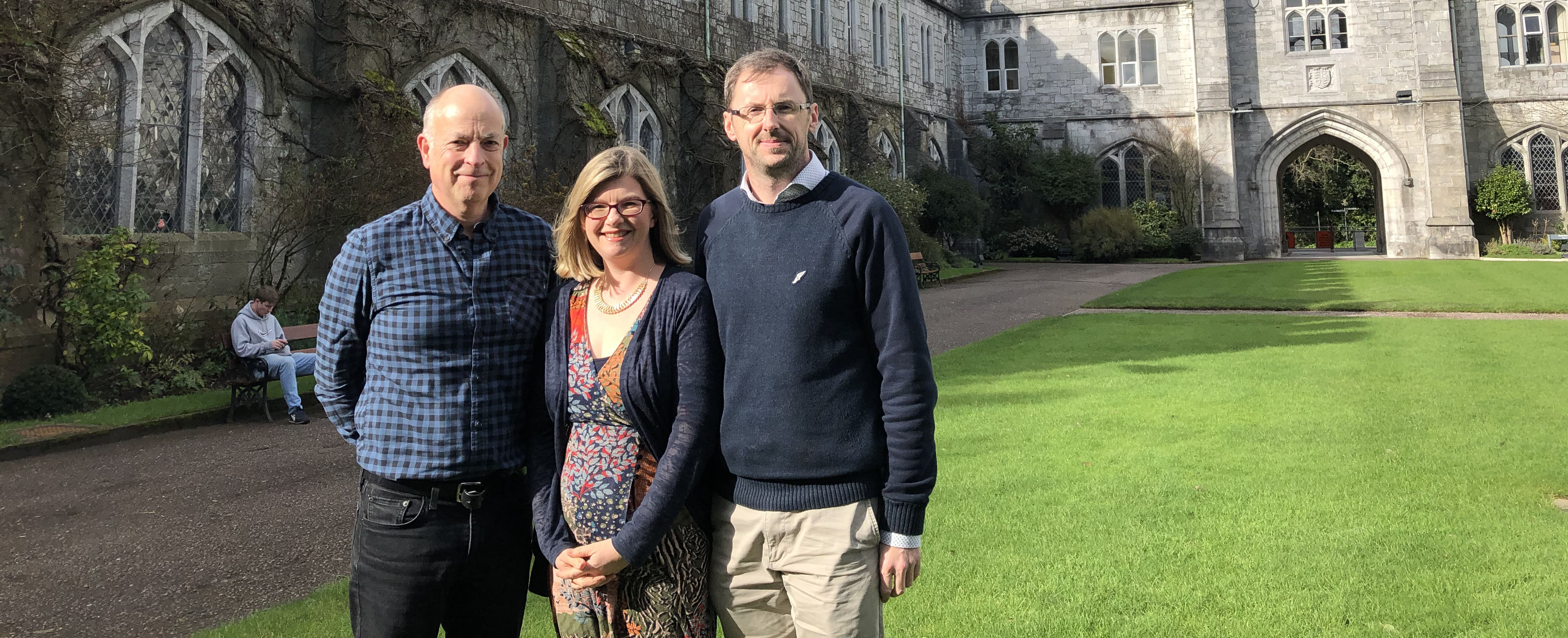 Dr Kenneth Burns, Dr Siobhan O'Sullivan and Professor Alastair Christie of the School of Applied Social Studies