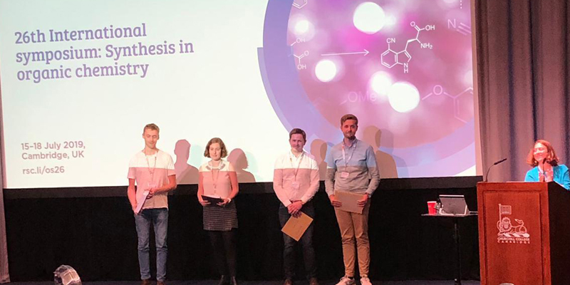 Thomas Brouder Wins Best Poster Prize at Synthesis in Organic Chemistry Symposium
