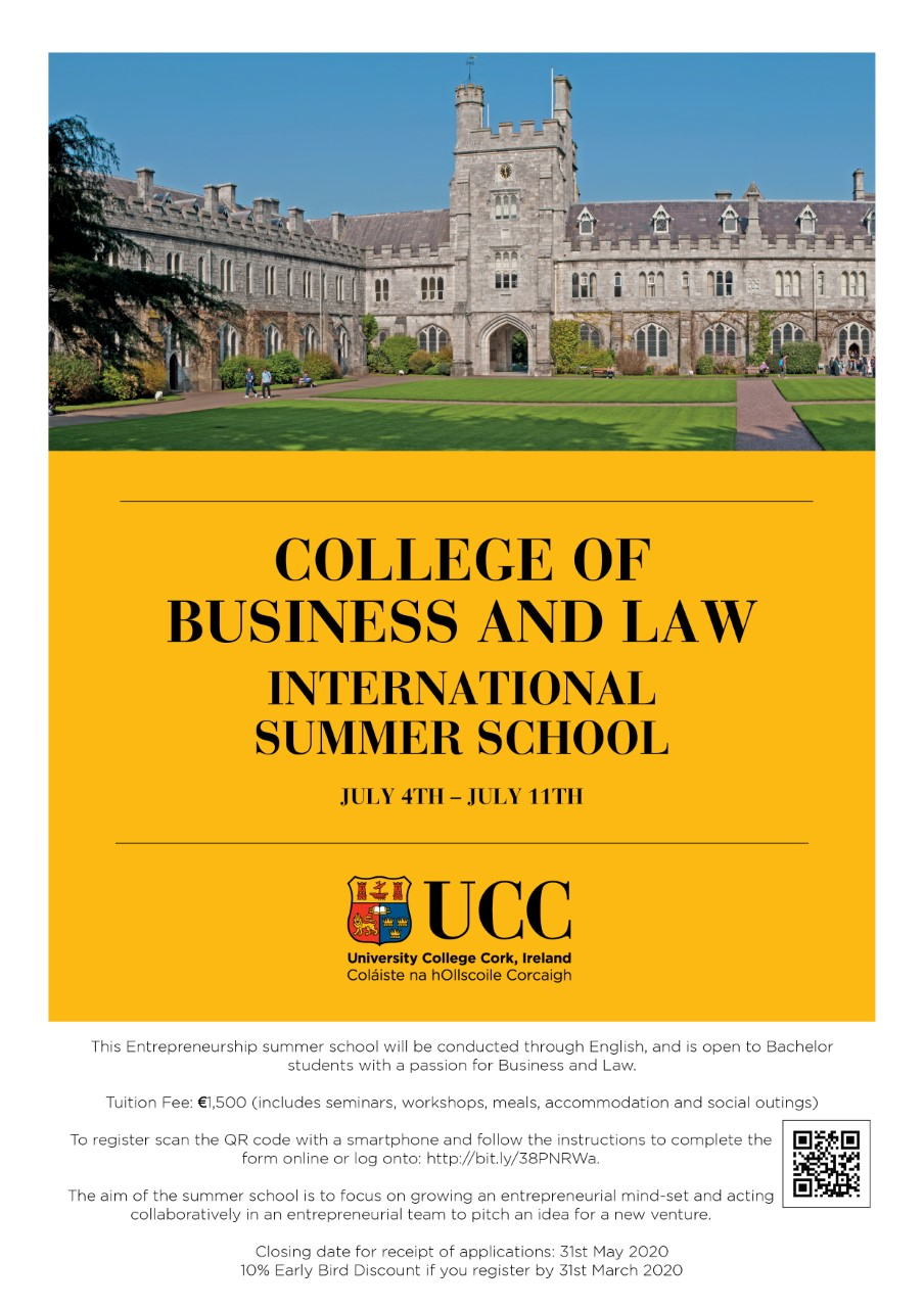 Due to the Covid-19 crisis the  College of Business and Law International Summer School has been cancelled.