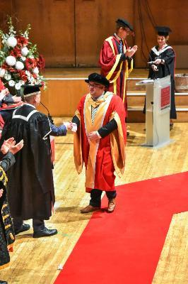 Professor Chris Lynch was awarded a Senior Doctorate at Cardiff University.