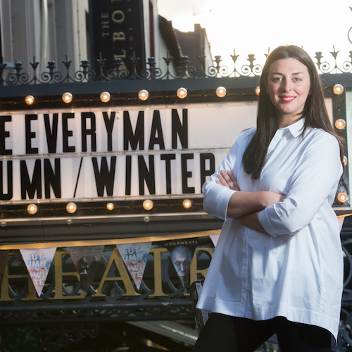 Alumni Julie Kelleher outside Everyman