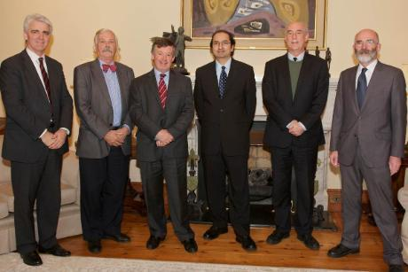 L-R: Head SEFS College Professor Patrick Fitzpatrick, Professor of Energy Eng. Tony Lewis,  