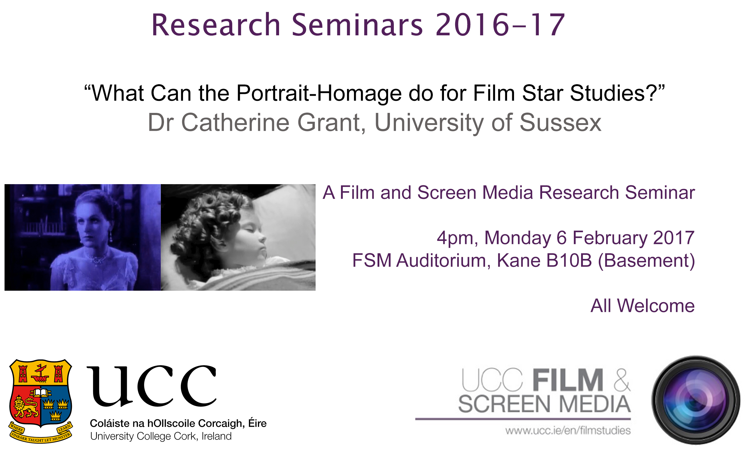 Film and Screen Media Research Seminar