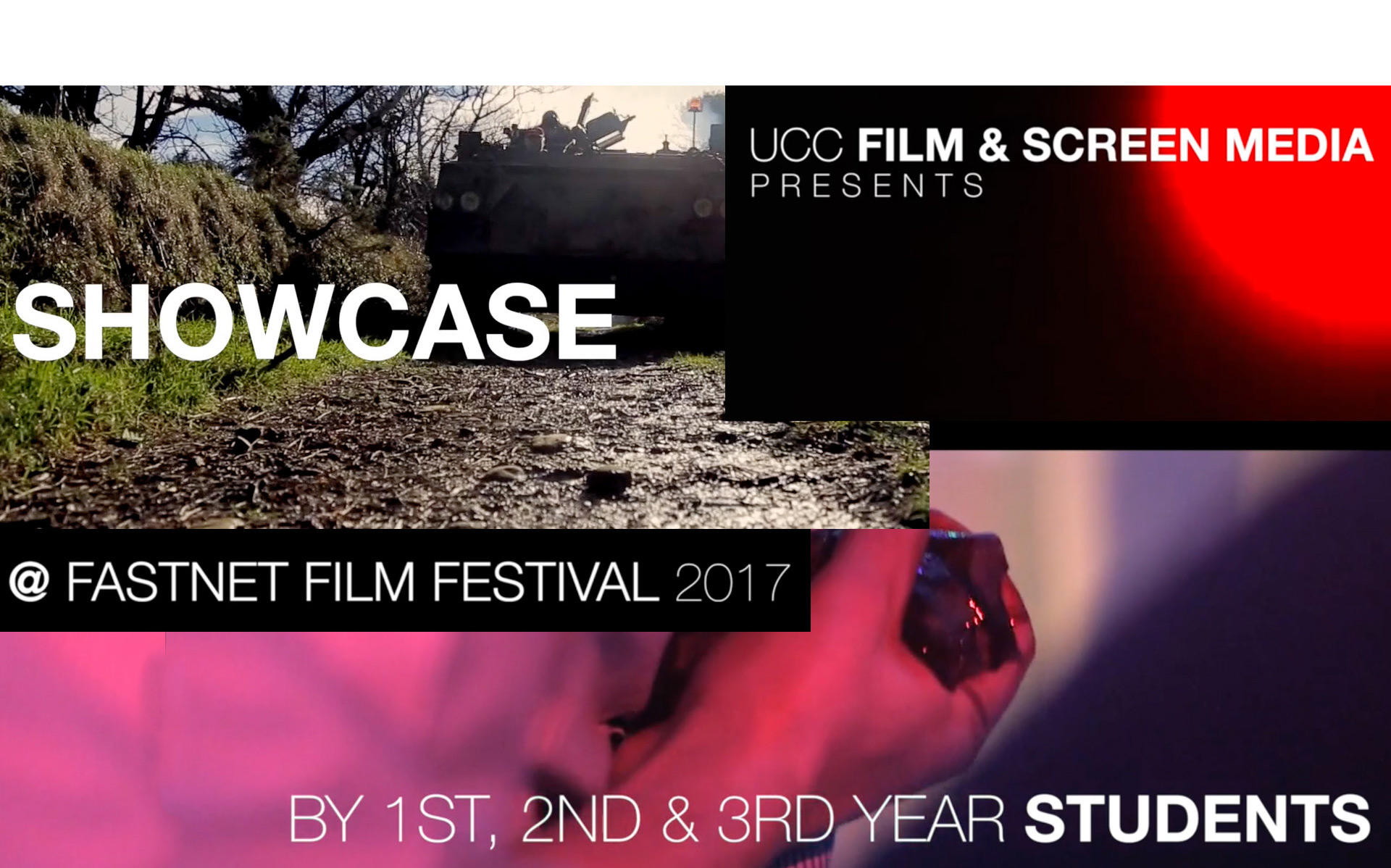 UCC Film and Screen Media Student's Showcase Event, Fastnet Film Festival, Saturday 27th May 12pm, Village Hall, Schull.