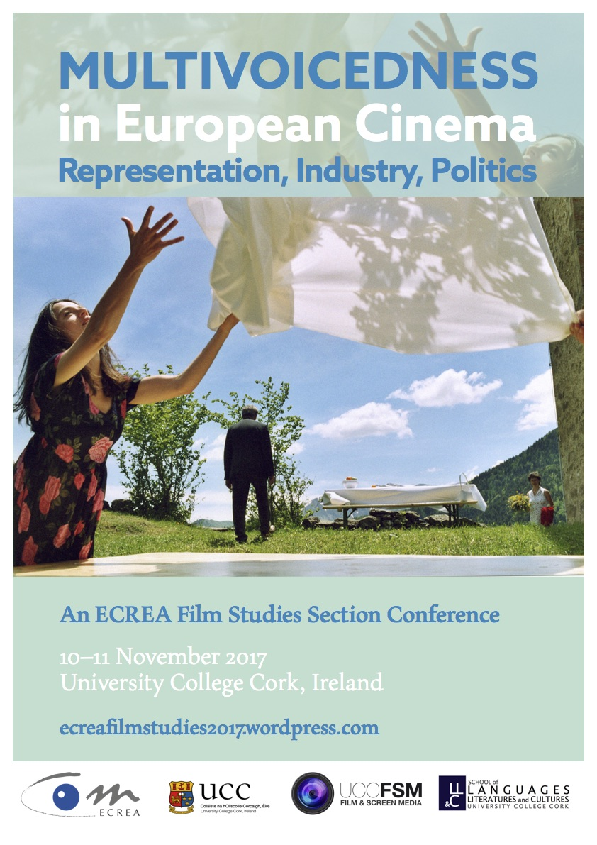 International conference of the ECREA Film Studies Section. Fri 10th and Sat 11th Nov 2017 at UCC.