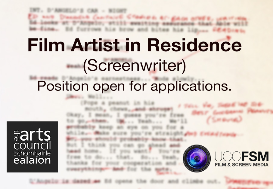 Film Artist in Residence (Screenwriter). Position open for applications.
