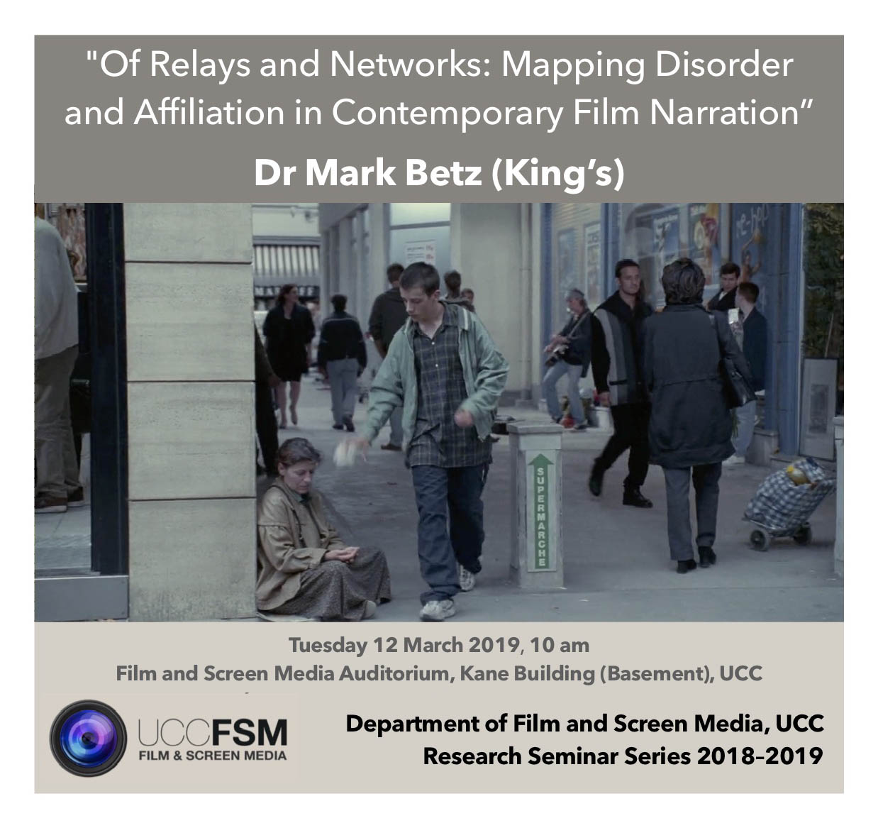 Dr Mark Betz. Research Seminar. 10am, Tues 12 March.