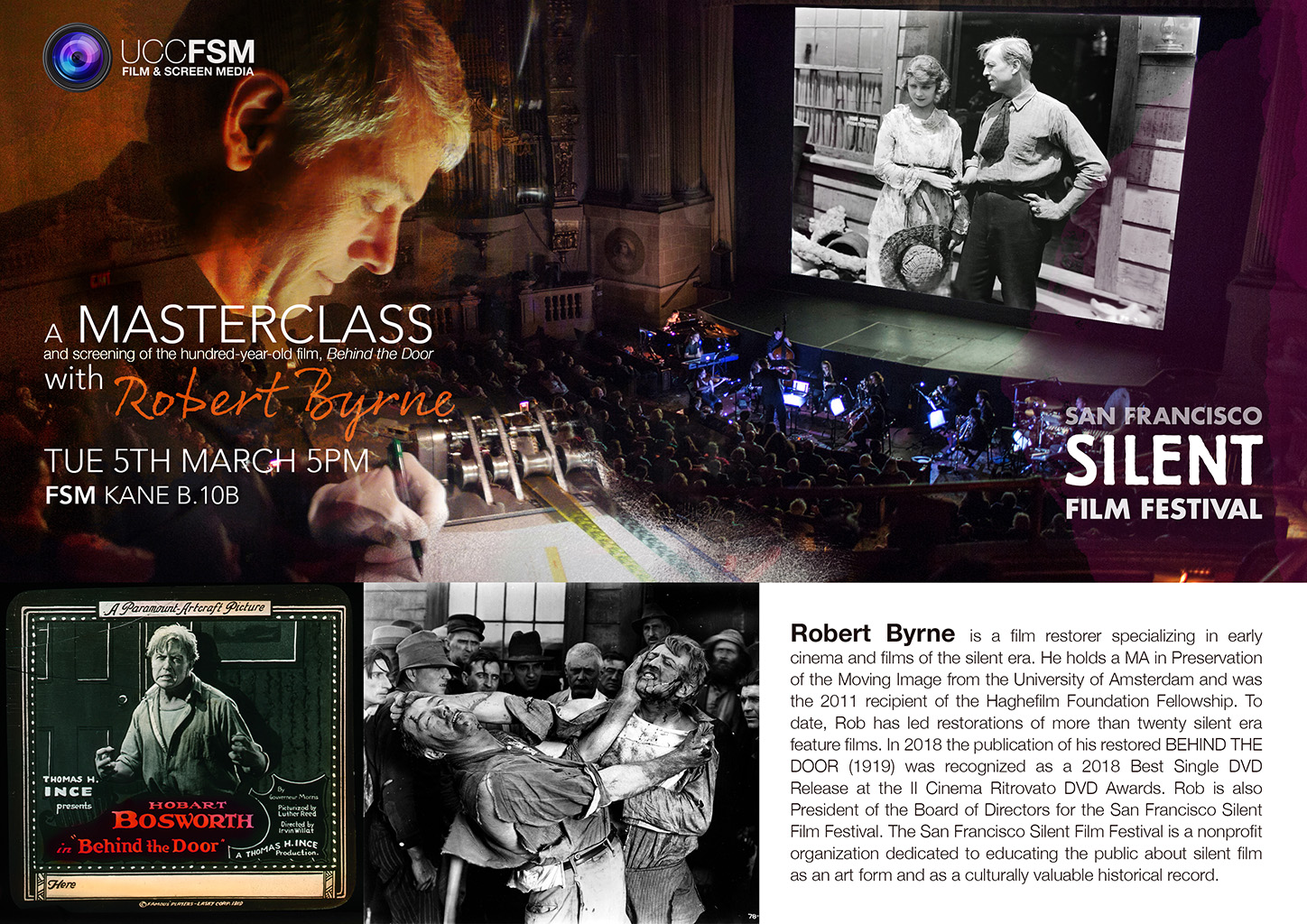 Robert Byrne Masterclass. Tues 5th March 5pm.