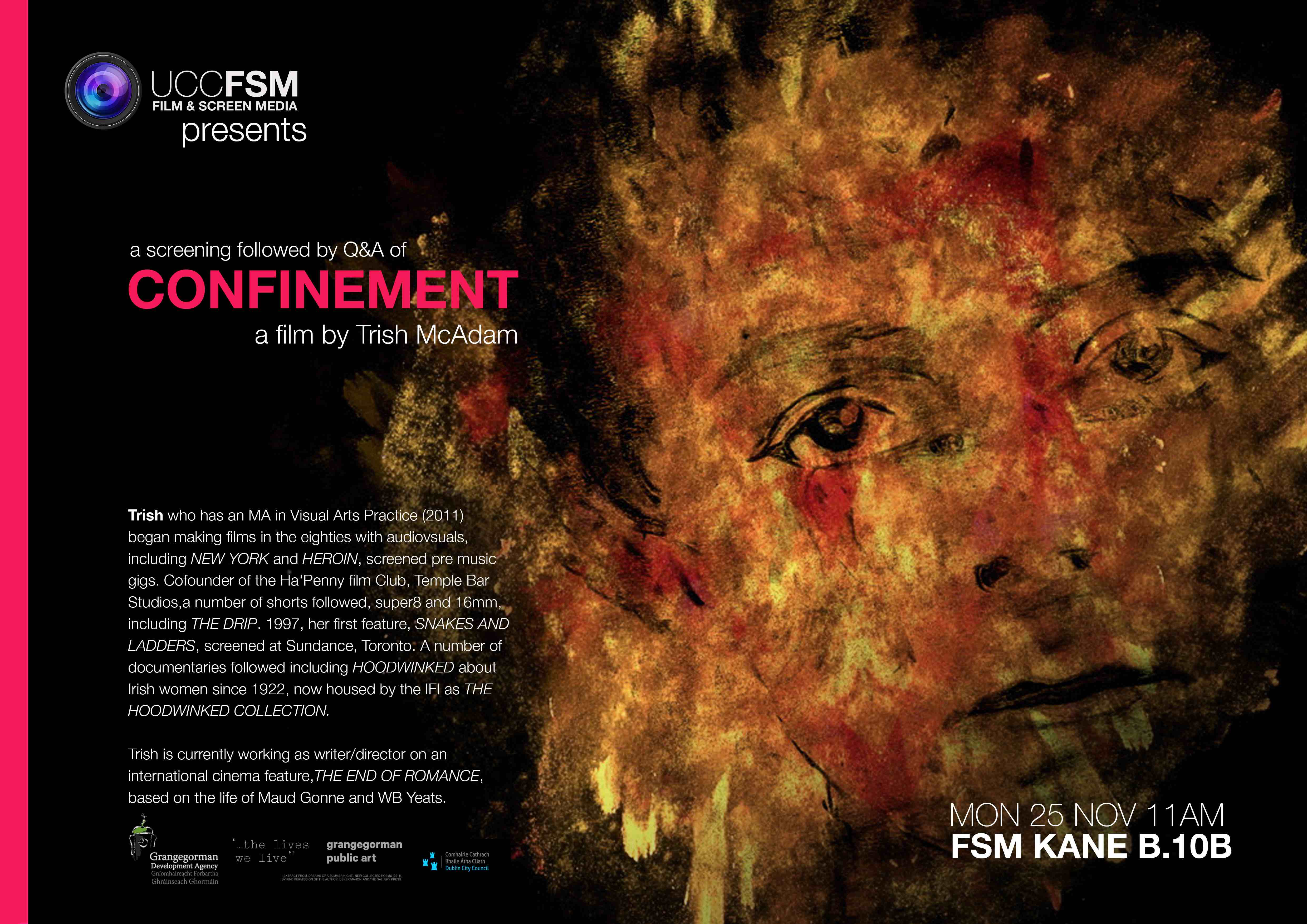 CONFINEMENT a short film by Trish McAdam - A TIMESPACE MAP. Mon 25 Nov @11am.