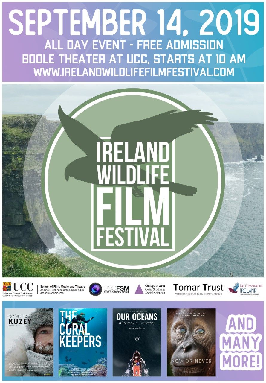 Ireland Wildlife Film Festival, Sep 4th, UCC.