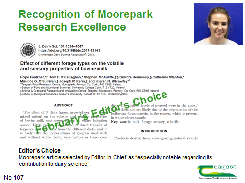 Recognition of Moorepark/UCC Research Excellence
