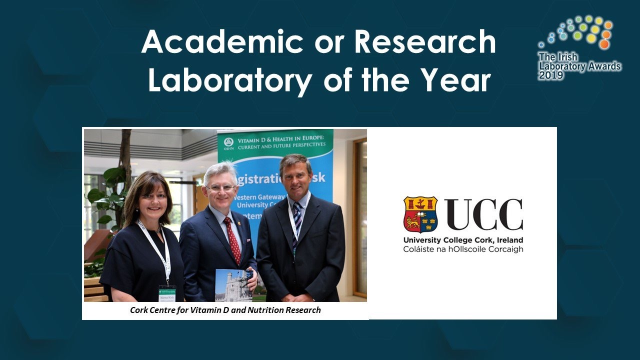 Cork Centre for Vitamin D and Nutrition Research - Food Lab of the Year and Research Academic Lab of the year 2019