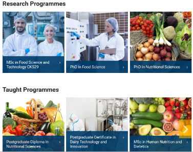Postgraduate Programmes - School of Food and Nutritional Sciences UCC
