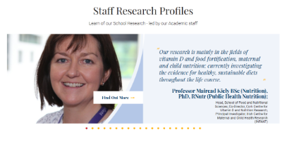 Staff Research Profiles - School of Food and Nutritional Sciences, UCC