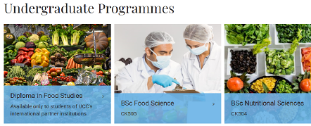Undergraduate Programmes - School of Food and Nutritional Sciences UCC