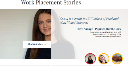 Work Placement - School of Food and Nutritional Sciences, UCC