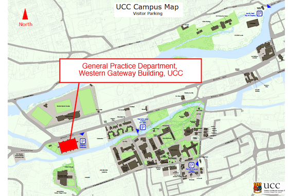 UCC Map with General Practice Highlighted
