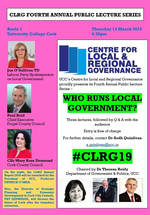 CLRG Fourth Annual Public Lecture Series