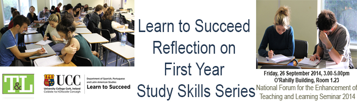 Learn to Succeed: Reflection on First Year Study Skills Series