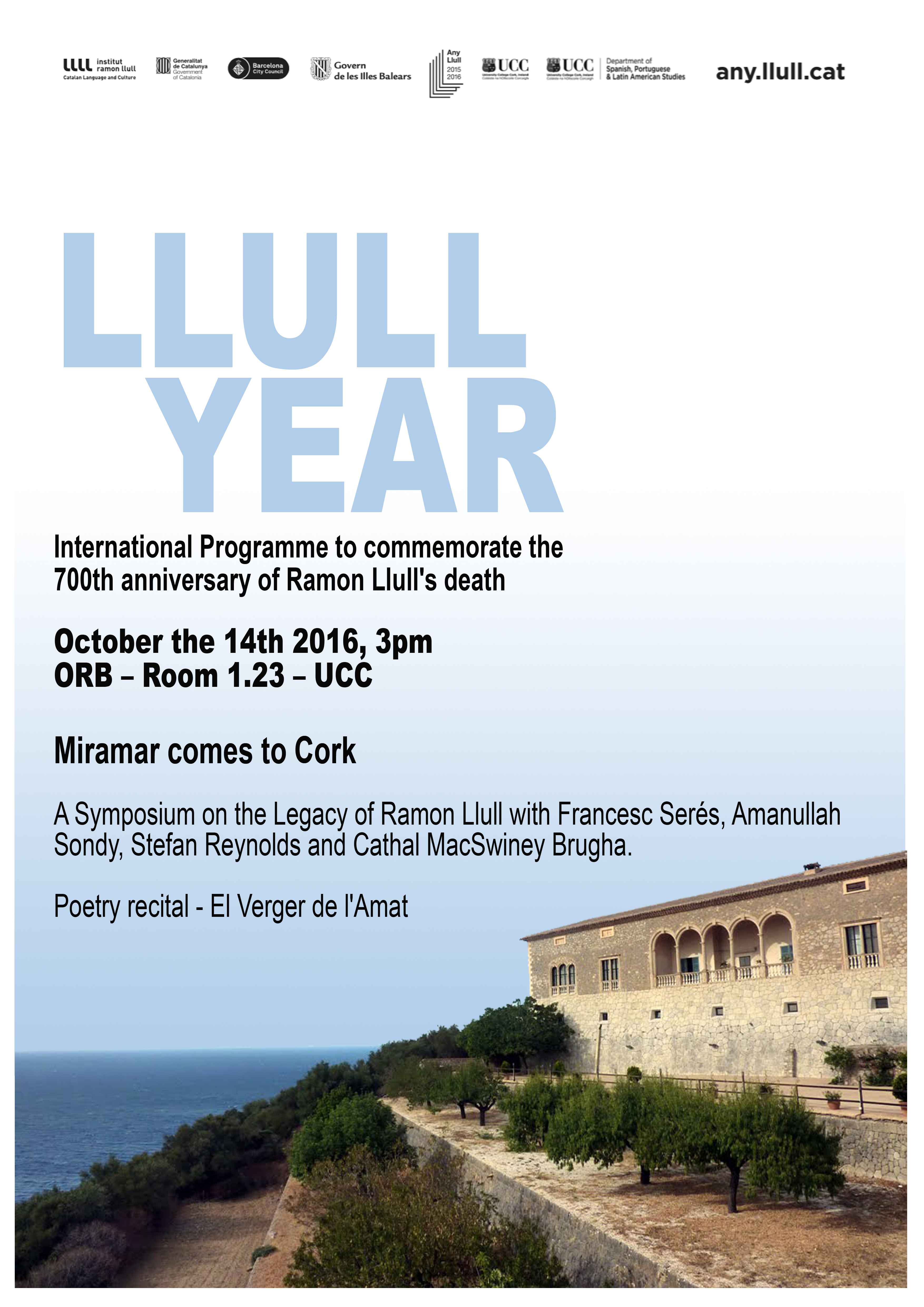 Miramar comes to Cork: A Symposium on the Legacy of Ramon Llull