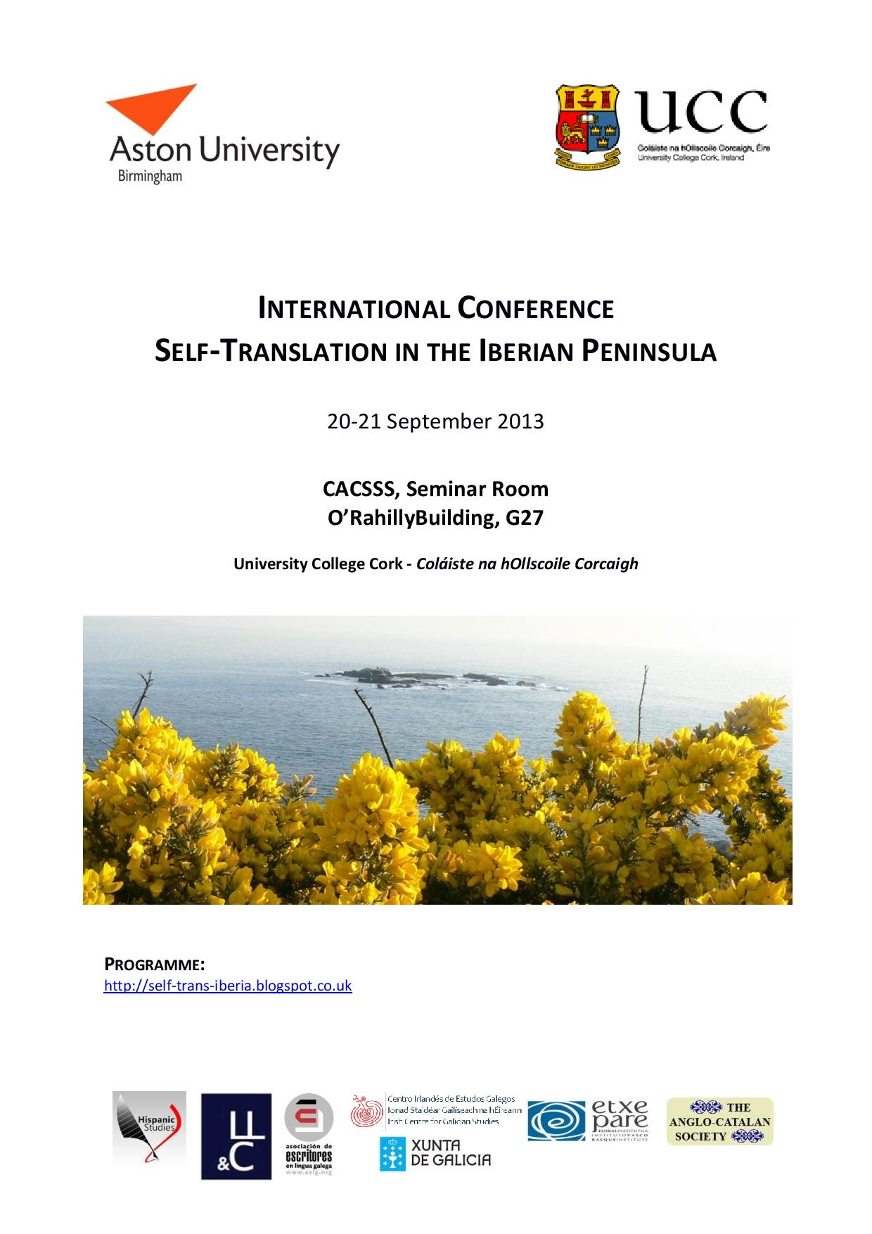 Self-Translation in the Iberian Peninsula International Conference