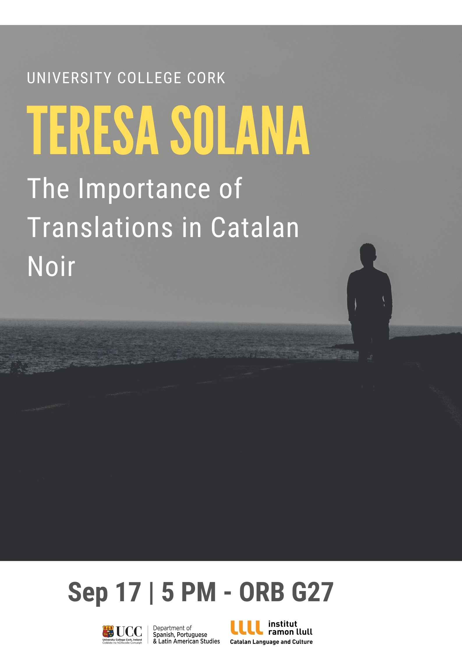 Teresa Solana in UCC on Sept. 17th: The Importance of Translations in Catalan Noir