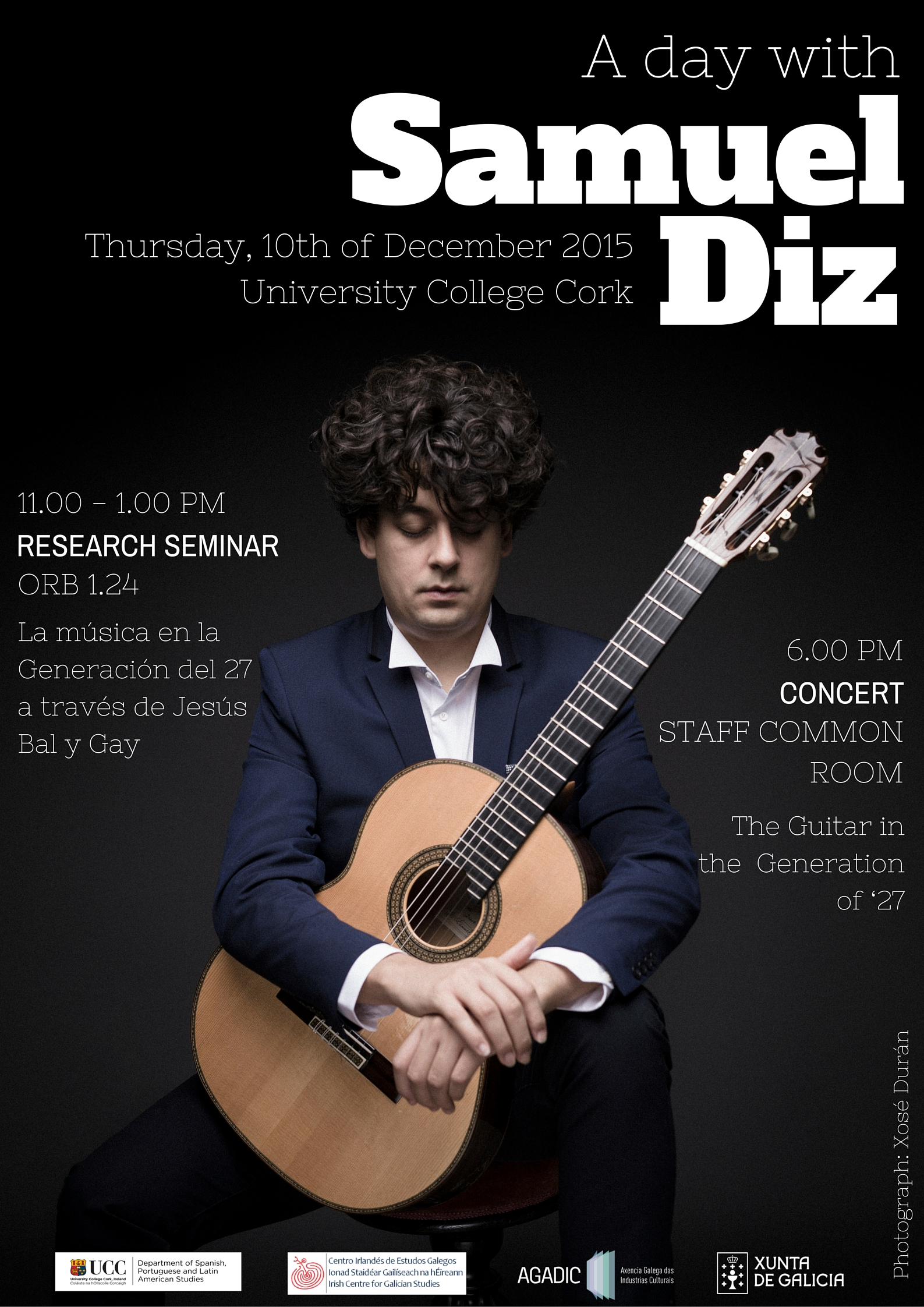 2015. December 10th. A Day with Galician Guitarist Samuel Diz