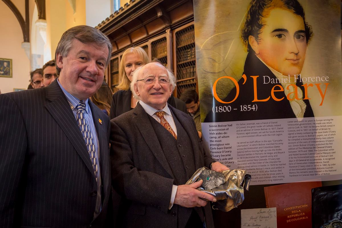 President Michael D. Higgins launches Irish in Latin America Exhibition