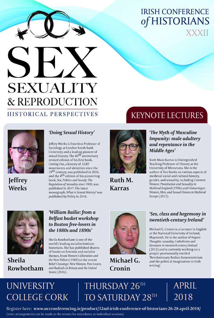 Irish Conference of Historians focused on Sexuality and Reproduction