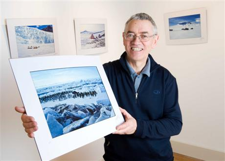 Prof John Gamble prepares for his FIRE & ICE Exhibition