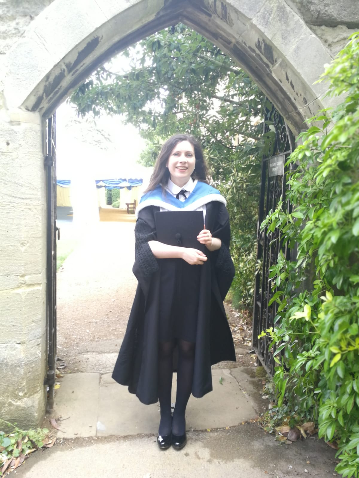 Clara Hurley after graduating from Oxford's prestigious BCL programme