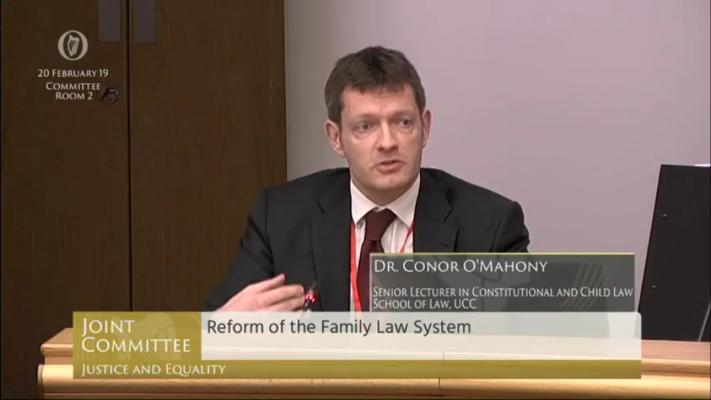 Watch Dr Conor O'Mahony's Opening Statement to the Oireachtas Justice Committee Hearing on Family Law Reform