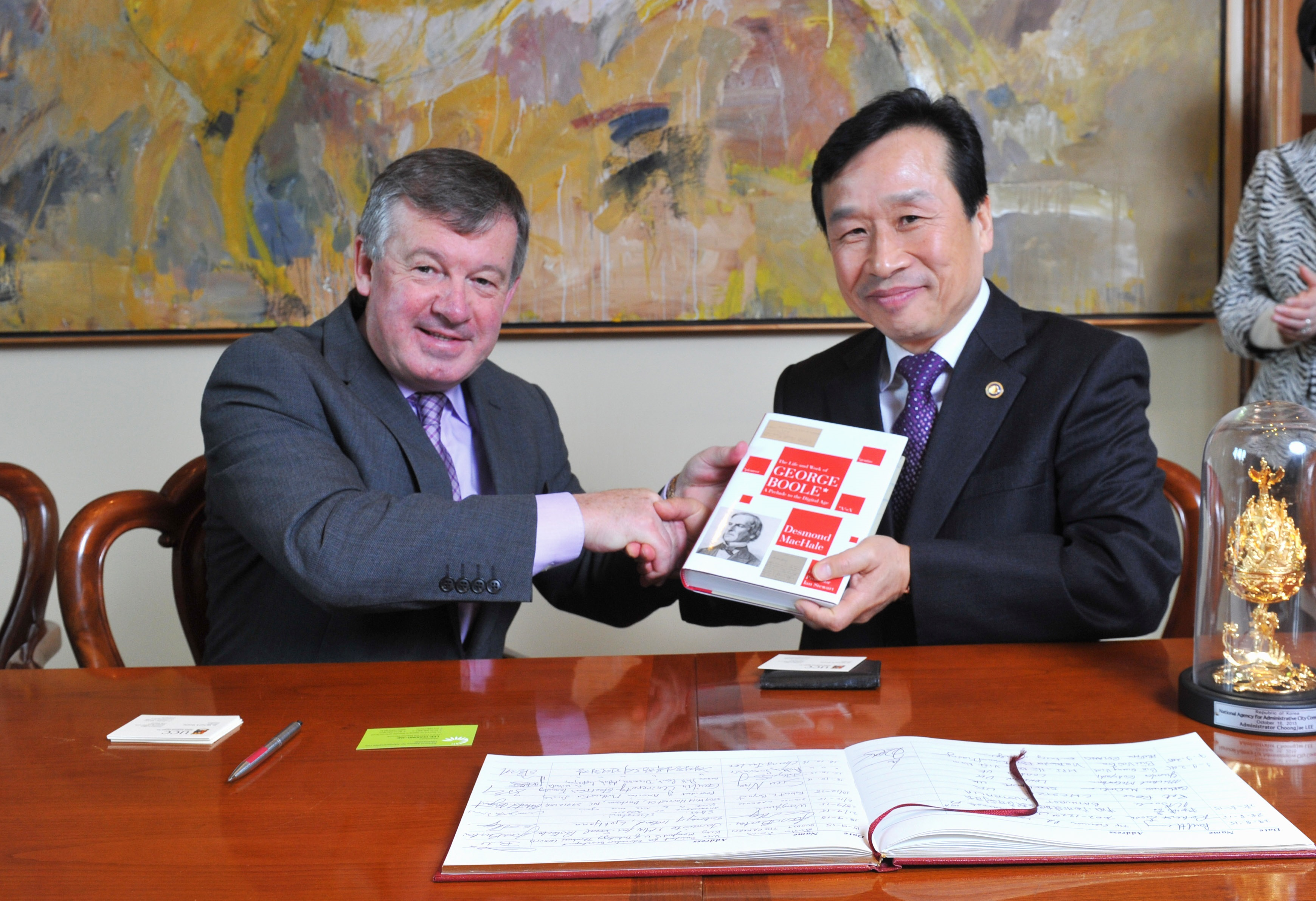 UCC Signs Memorandum of Understanding with Korean National Agency