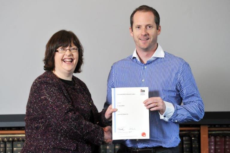 Dr Jerry Reen completes Professional Skills for Research Leaders programme
