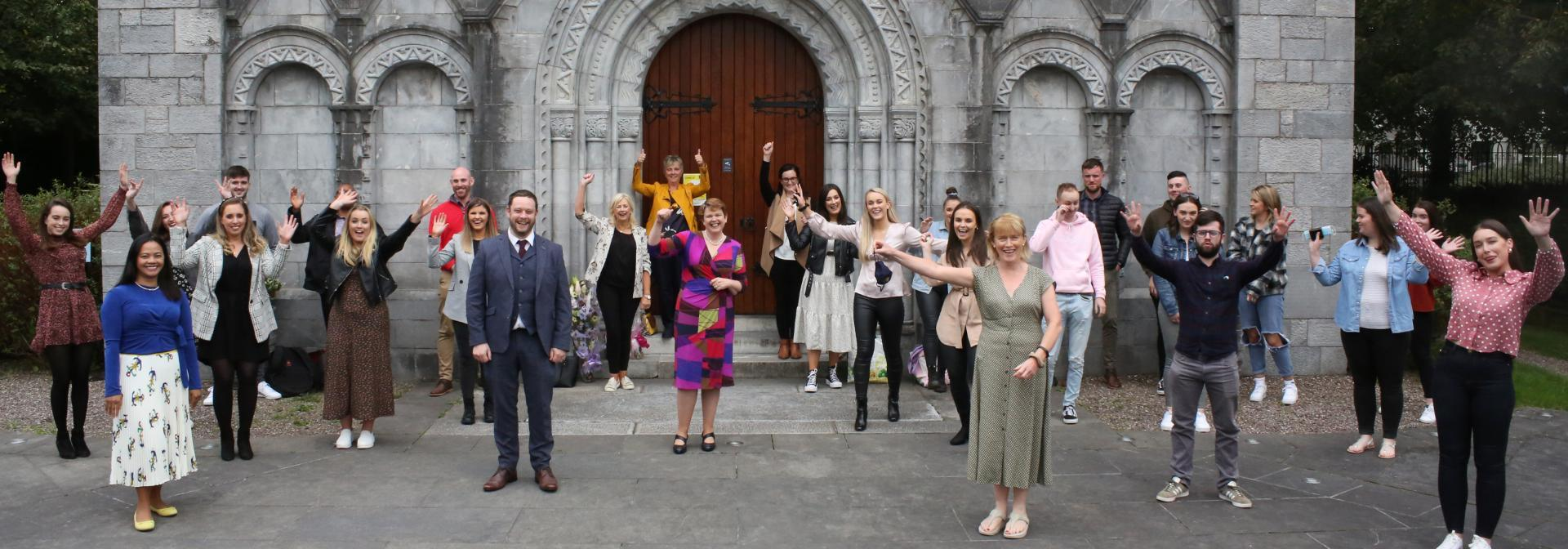 Year four mental Health Student Nurses celebrate with a blessing of the Hands Ceremony at the Honan Chapel, UCC