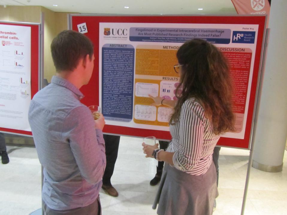 Andrea Diaz Diaz presenting her poster at the 19th Annual IAP Meeting