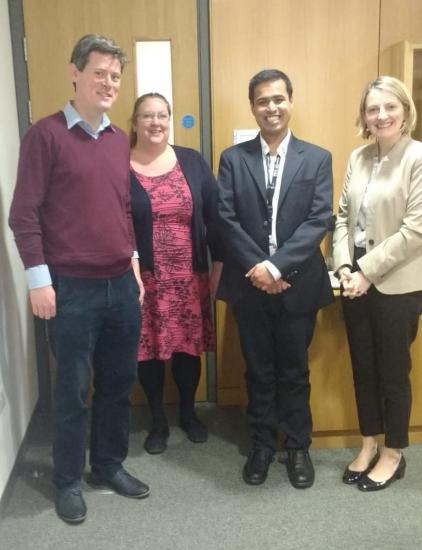 Anirudh Jaisimha and Dr. Barry Boland his Lecturer in Pharmacology at UCC