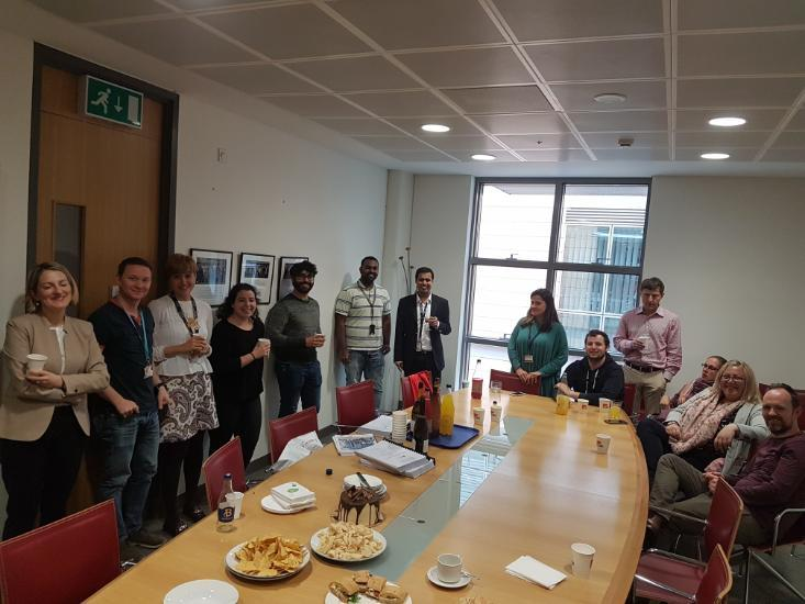 Anirudh Jaisimha and the UCC Pharmacology Department celebrating his latest achievement of completing his PhD and Viva Examinations