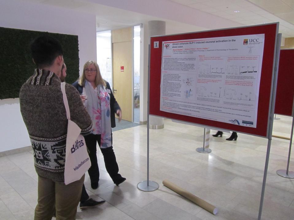 Dr Maria Buckley presenting her poster at the 19th IAP Annual Meeting