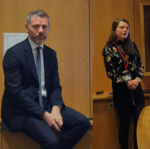Dr Paul Gallagher and Leanne O'Sullivan present to the Department of Pharmacology and Therapeutics Team