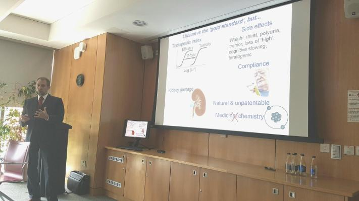 Dr Grant Churchill conducted a presentation for the Department of Pharmacology and Therapeutics team at UCC on 27 June 2019