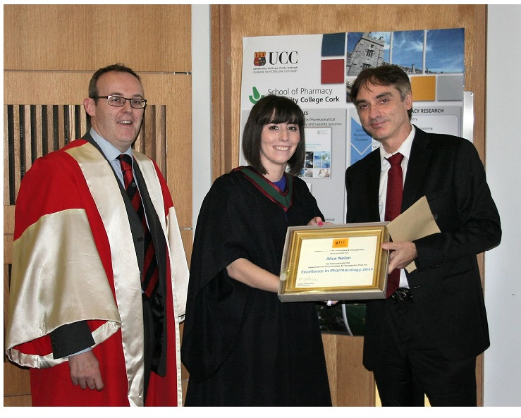 Congratulations Alice Nolan winner of Prize for Excellence in Pharmacology 2015