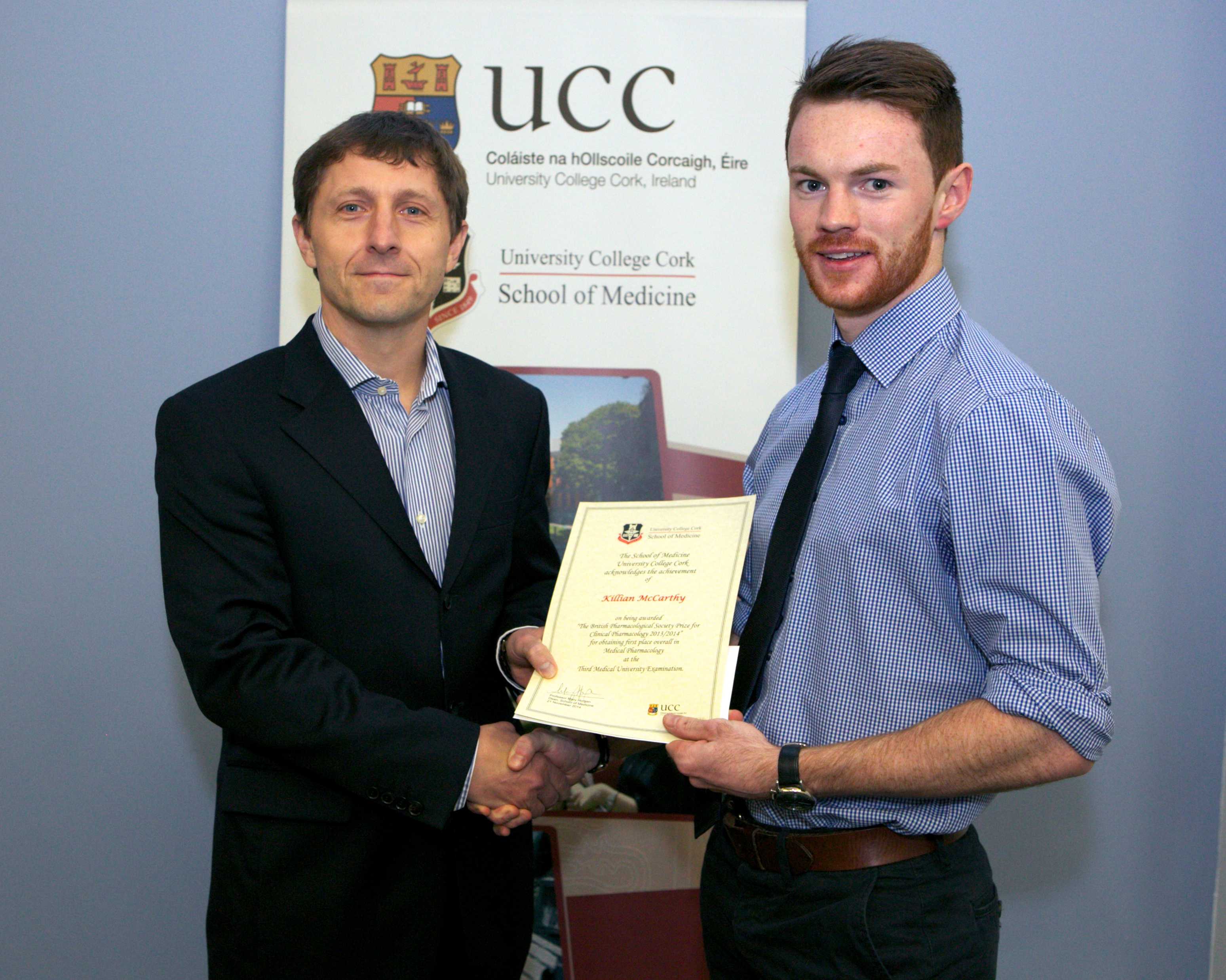 Killian McCarthy is awarded the BPS Prize for Clinical Pharmacology